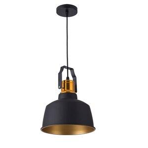 Image 2 - Industriale stye12W In Alluminio vintage retro soffitto hanging light nero ha condotto la lampada a sospensione per sala da pranzo ristorante bar illuminazione