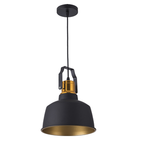 Image 2 - תעשייתי stye12W אלומיניום בציר רטרו תליית תקרת אור שחור led תליון מנורת אוכל מסעדה בר תאורה