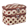 FGGS Hot Chic Lady's Dot Makeup Cosmetic Tool Storage Toiletry Beige