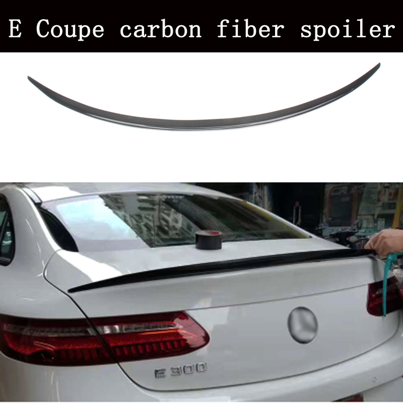 Carbon fiber Rear Trunk Boot Spoiler Wing for <font><b>Mercedes</b></font> Benz E-Class W213 E <font><b>Coupe</b></font> E200 <font><b>E300</b></font> E400 E550 E63 2Door 2017 image