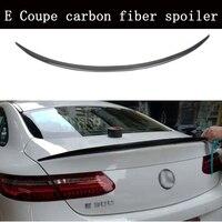 Carbon fiber Rear Trunk Boot Spoiler Wing for Mercedes Benz E Class W213 E Coupe E200 E300 E400 E550 E63 2Door 2017