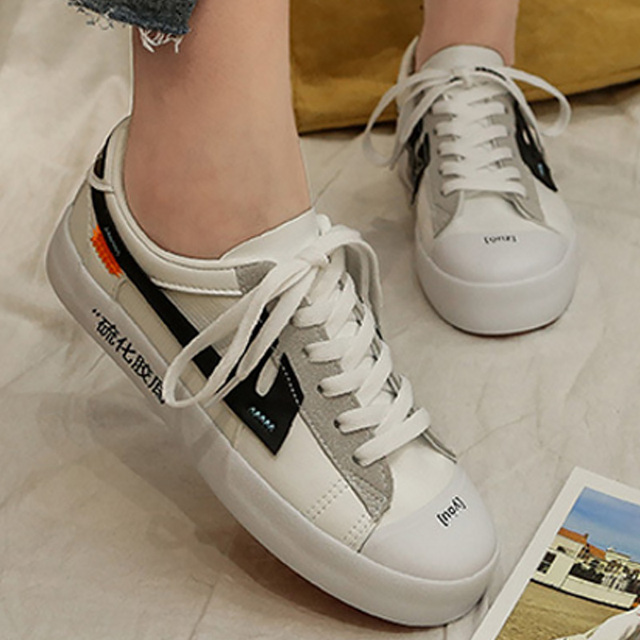 8a99f5cce2c Womens casual shoes flats sneakers woman spring shoes big size 35-43 lace-up  elegant mixed colors off white shoes