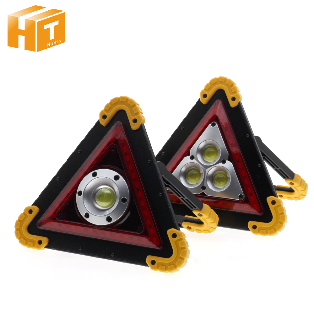 Portable Emergency Light 30W COB LED Car Warning Lamp Outdoors Camping Lamp USB Charging Battery LED Spotlight.