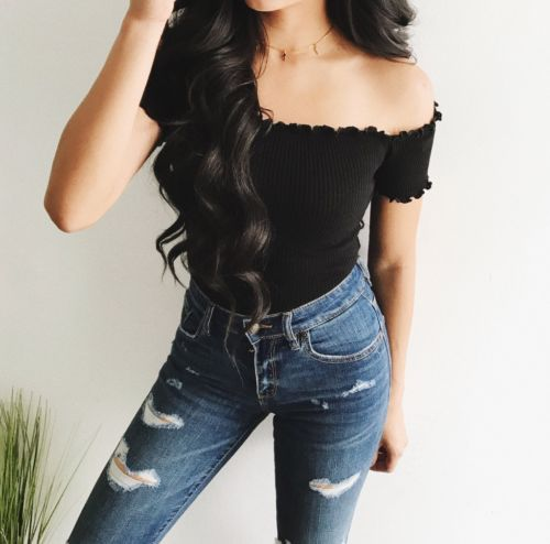 Spring New 2017 Off Shoulder Crop Top T Shirts Hot Sale Short Sleeve Solid Short T-shirts For Women Clothing Fashion Slim T-shi