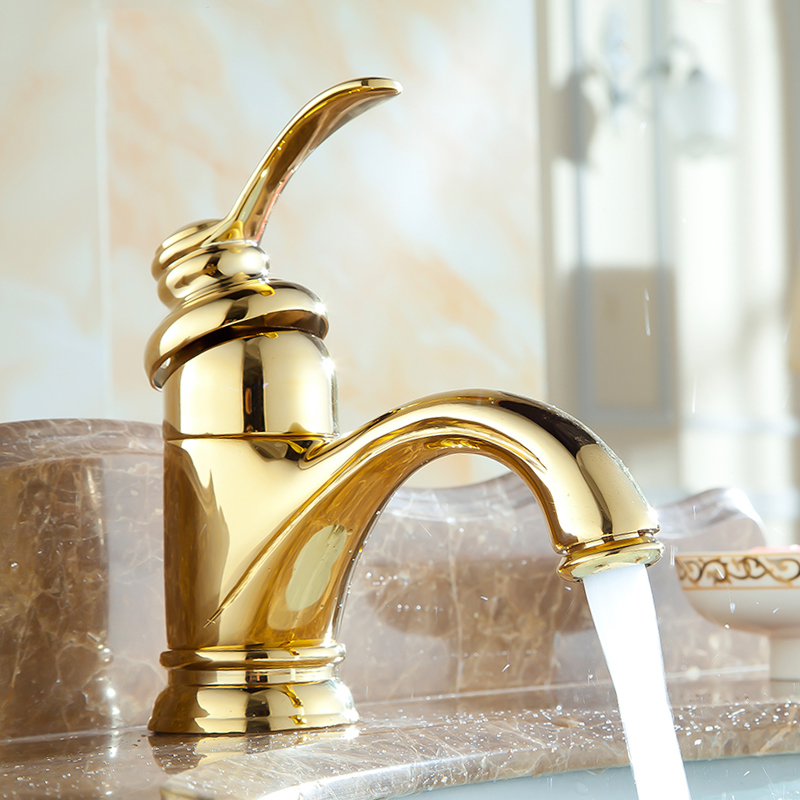 Basin Faucets Antique Brass Bathroom Sink Faucets Single Handle Hot Cold Wash Mixer Water Tap WC Cock Torneira Banheiro ZLY-6636 beelee bl8121 cold hot water copper basin faucet for bathroom single handle sink wash basin tap water tap free shipping