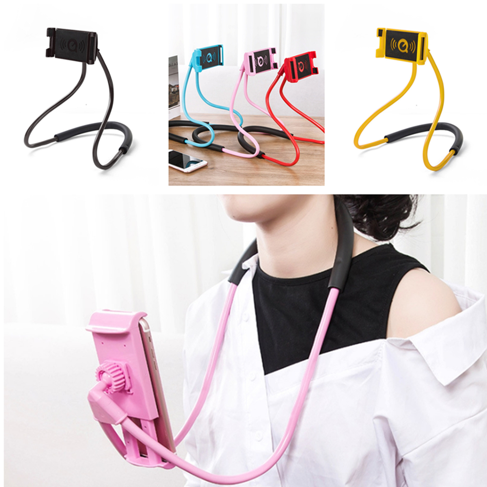 Lazy Hanging Neck Phone Holder Halter Mobile Stands Necklace Cellphone Support Bracket For Samsung Universal Holder For IPhone