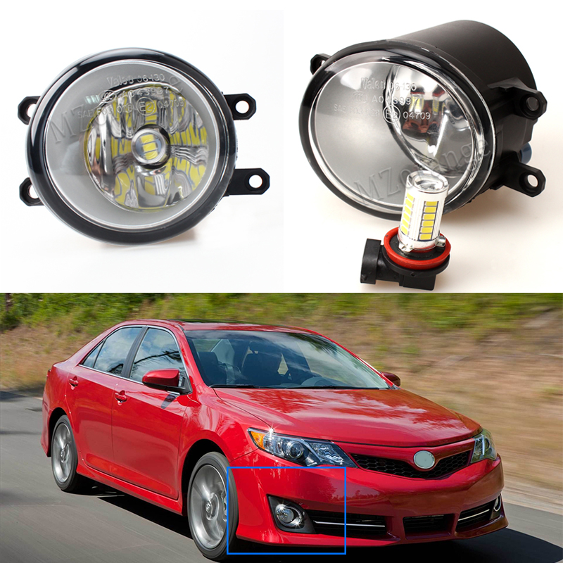 LED fog lights lamp For TOYOTA COROLLA Verso S AVENSIS T25 CAMRY Verso desire IST RACTIS 2003 2014 Car styling 1set