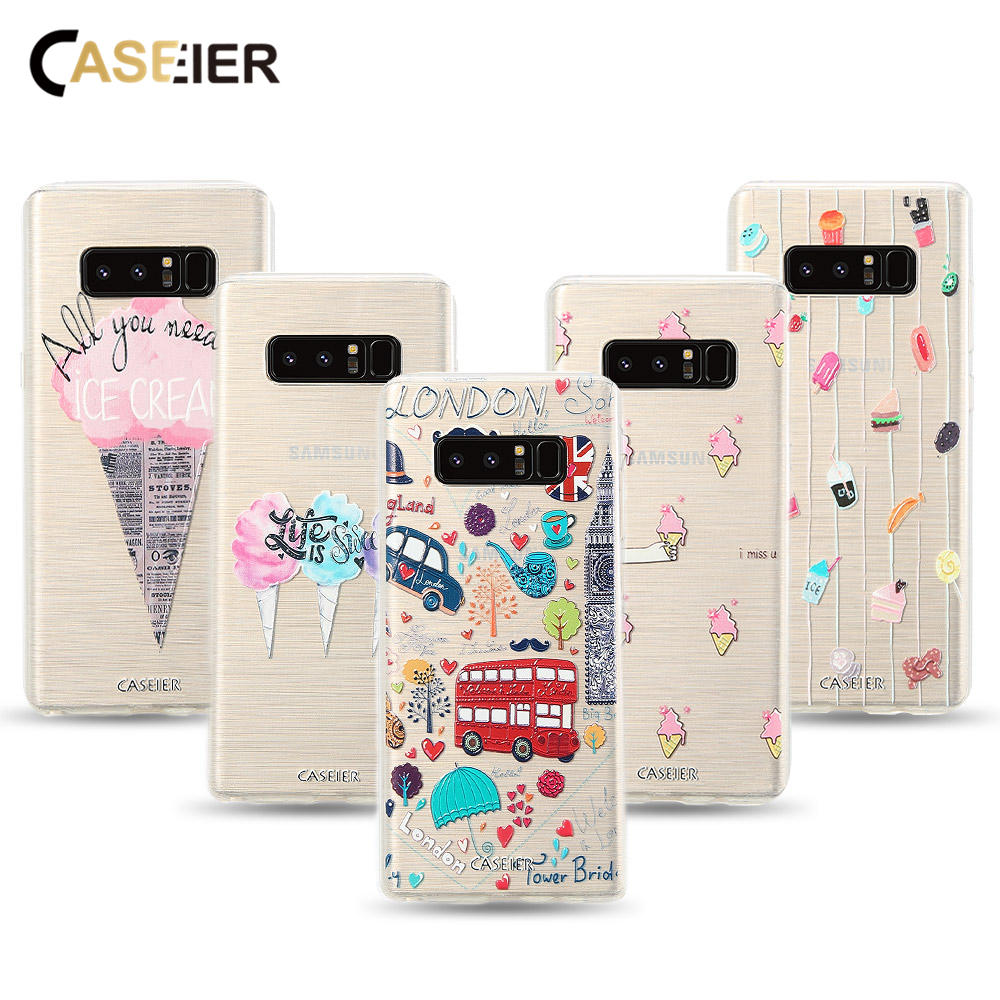 CASEIER Розкішні чохли для телефонів для Samsung Galaxy S6 S7 Edge S8 Plus Case Мягкий TPU Ультратонкий чохол для Samsung Note 8 Capinha Funda