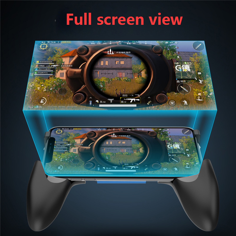 Bluetooth 4 2 Gamepad for PUBG Mobile Game with Folding Holder for iPhone  IOS Built-in 180mAh Battery Gamepads Adjustable Size