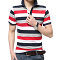 2016 Summer Men's Clothes Men Brand Cotton Short Sleeve Striped Slim Fit Polo Shirt Men Polos Male Casual Polo Shirts #1185