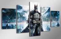 5 Panels Wall Art Batman Movie Poster Group Painting Canvas Room Decor Print Poster Unframed 053