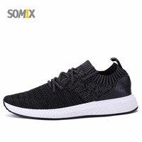Somix Original Brand Running Shoes For Men Sock Dart Sneakers Men Mesh Breathable Hard Court Outdoor