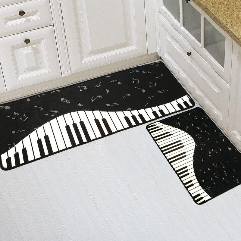 Piano Keys Notes Area Rugs And Carpets For Kids Home Living Room Absorbent Kitchen Mat Non Slip Bedroom Door WC Floor Bath Mats