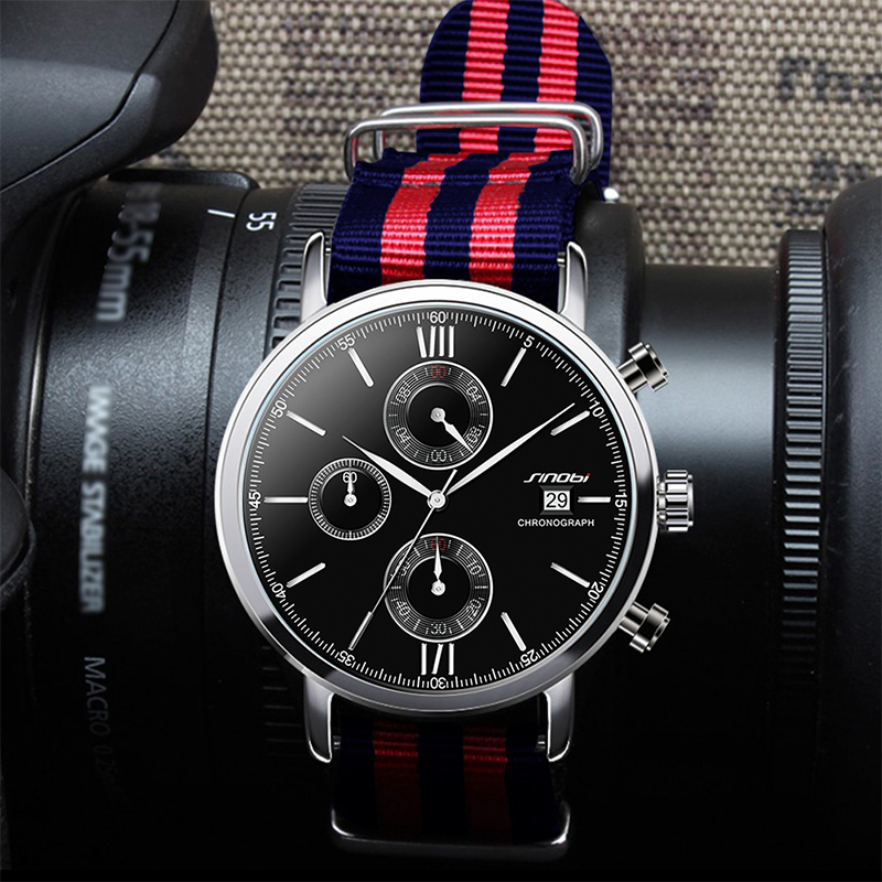 Men chronograph wrist watches 7
