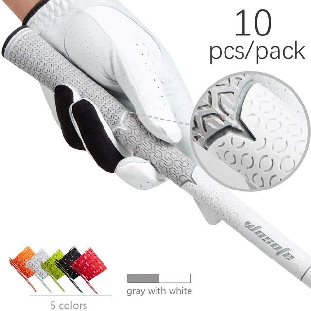 Golf Club Grips Rubber Irons Club Grips for Golf Men's Golf Grip Professional Soft Non Slip Cotton Wire Golf Grip