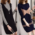 Sweater dress for women long 2017 new office elegant sexy dress long sleeve women knitted dress wool  Lady Bodycon Knit Dress