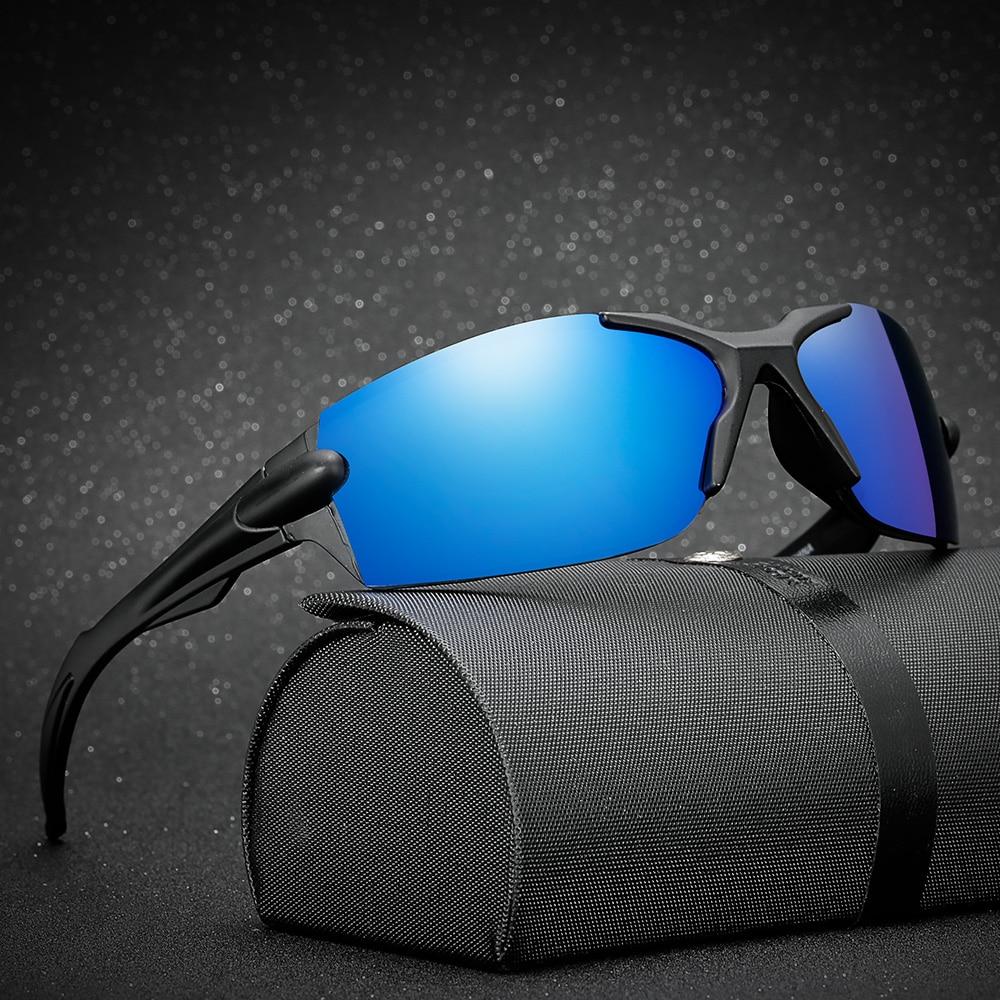 Купить с кэшбэком AIELBRO Polarized Cycling Glasses Bike Bicycle Glasses Sports Men's Sunglasses MTB Road Cycling Eyewear Protection Goggles