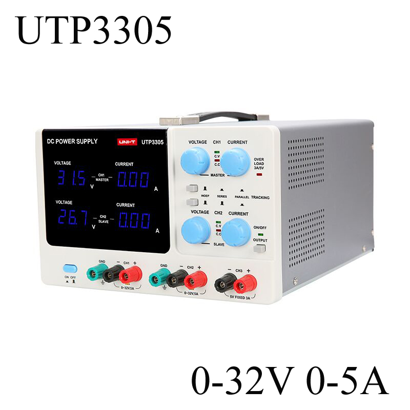 UNI-T UTP3305 Multi-Channel Linear DC Power Supply 32V 5A Digital Regulated Switching Power For Phone Computer Repair Shop uni t utp3305 dc power precision variable adjustable supply supply digital regulated dual
