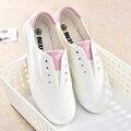 Женская обувь корзина femme обувь женщина холст обувь женская повседневная chaussure femme холст Женский Новый Белый Черный