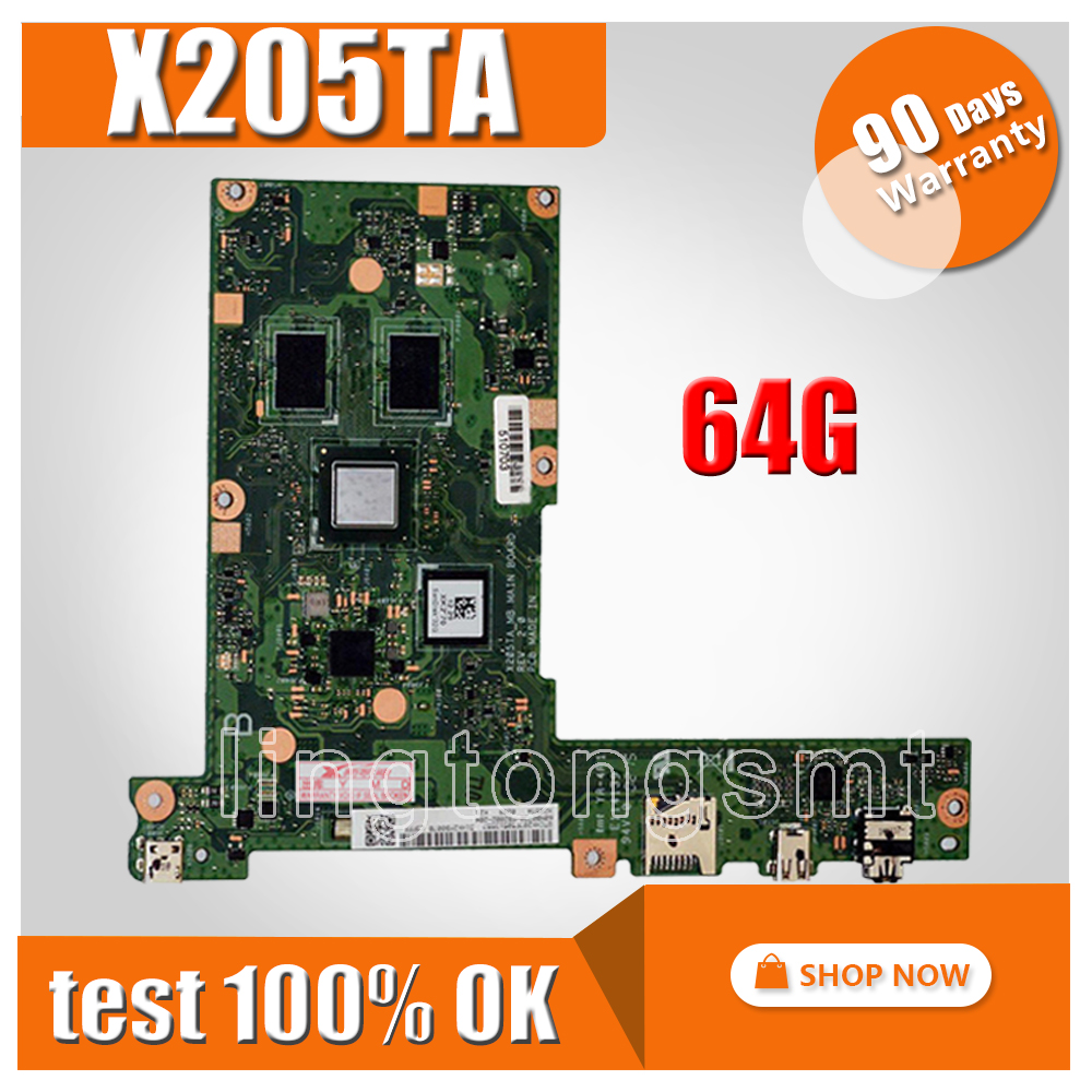X205TA Motherboard 64GB For ASUS X205TA X205TAW Laptop motherboard X205TA Mainboard X205TA Motherboard test 100% OK g73sw for asus motherboard rev2 0 hm65 4ram slots 3d connector 90r n3imb1000y mainboard full test