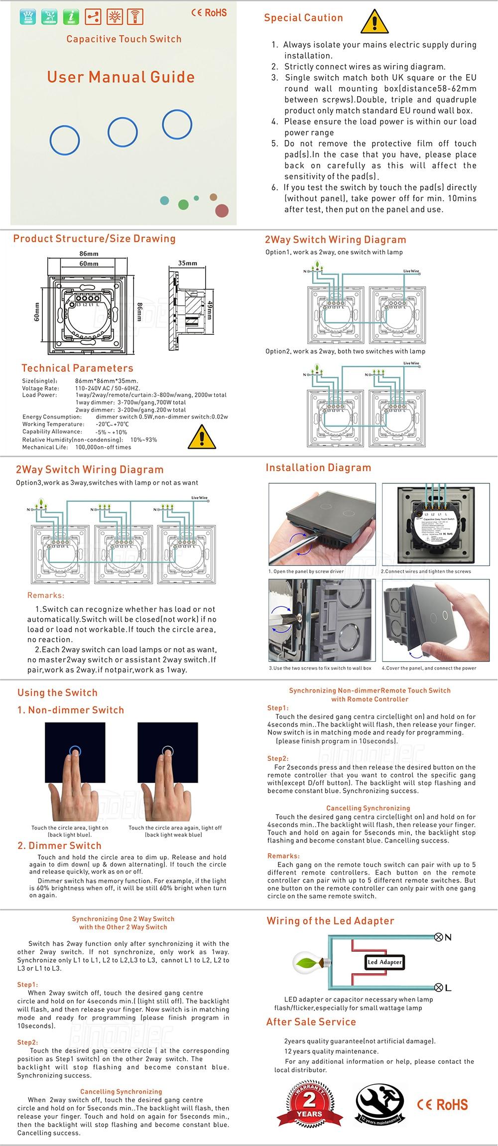 Eu Uk 1gang 2way Wireless Remote Light Switchwhite Glass Panel Lampfromtwodifferentplacesbytwo2wayswitches 2 Way