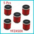 5 Filtro De Aceite unids/pack Para WR250 WR450 YZ450 YFZ450 YFZ450R YZ250 YZ250F YZ450F XT250 YBR250 WR250F WR250X WR250R