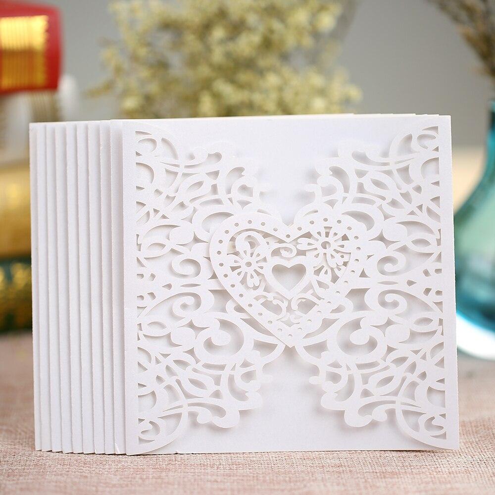 2017 20Pcs/pack Romantic Birthday Wedding Party Invitation Card ...