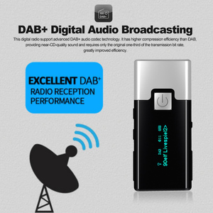 Image 5 - P10 High quality Mini DAB FM Digital Radio Portable Pocket DAB+ Receiver with Earphone LCD Display Rechargeable Battery
