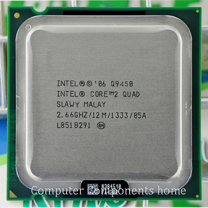 intel core 2 quad Q9450  Socket LAG 775 CPU Processor (2.66Ghz/ 12M /1333GHz)  Desktop CPU
