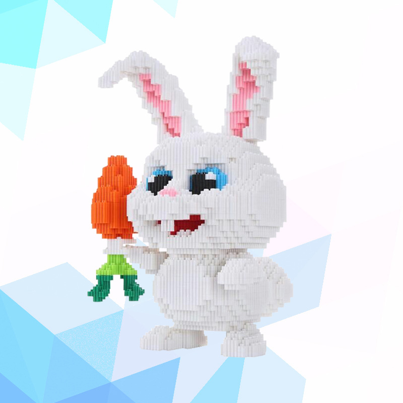 xinzhe Cartoon Connection Blocks Cute Big size Rabbit Model Building Toy Educational Brinquedo for Children Gifts Girl Present