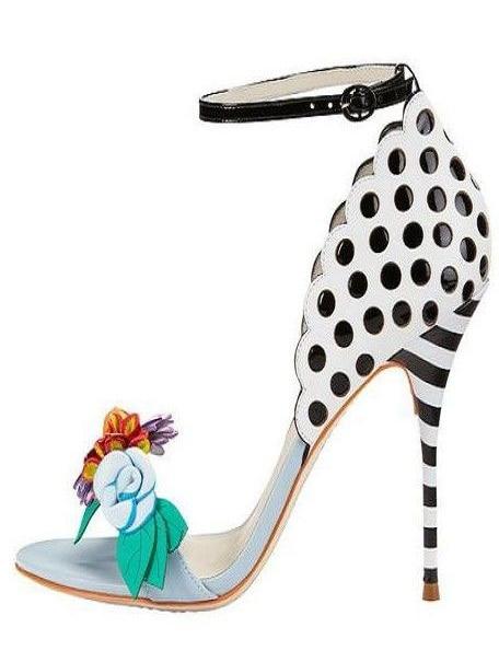 Newest women high heel stilettos super high thin heels open toe sandals red flower and green leaf design women party sandals цена 2017