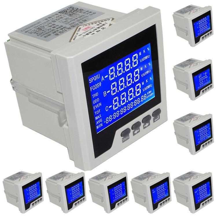 YG194E-9SY 3 P Trois-phase Multifonction LCD Numérique Volt Amp Power Meter L'accumulation D'énergie Réseau RS-485 Table testeur moniteur
