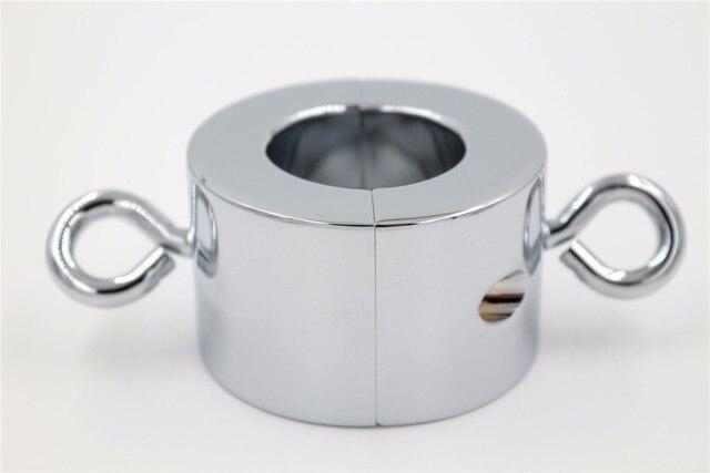 515G Large Size Metal Ball Stretcher Scrotum Pendant Restraint Locking
