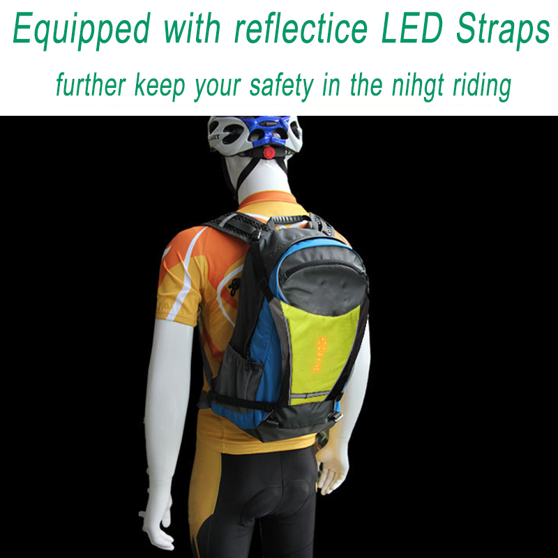 Led Light Warning Vest Usb Charging Backpack Mtb Bike Bag Safety Led Signal Vests Warning Accessories 1pc Cycling Back To Search Resultssports & Entertainment