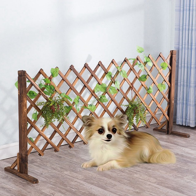 1pc Wooden Dogs Fence Cats Safety Fences Pets Gate For Safe Indoor Retractable