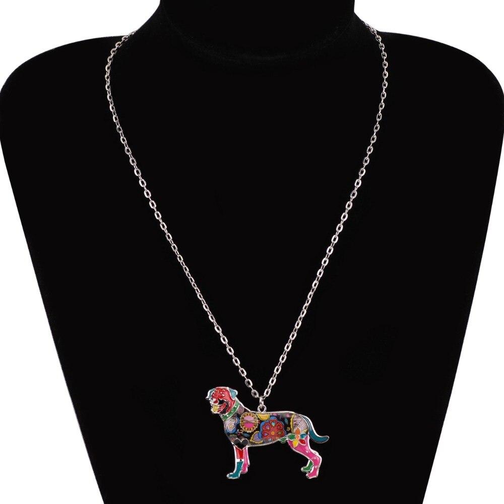 Bonsny Declarație Maxi Alamă smalt Rottweiler colier colier - Bijuterii de moda - Fotografie 6