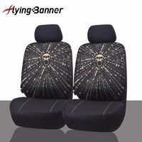 FlyingBnner Polyester Front Car Seat Covers Airbag Compatible Universal Fit Car Seat Protector Interior Accessories