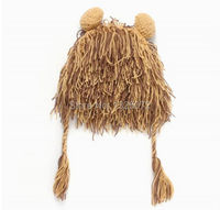 Adult Handmade Warm Durable Crazy Lion Wig Fun Winter Hats Unique Gift Ideas Caps Men Women