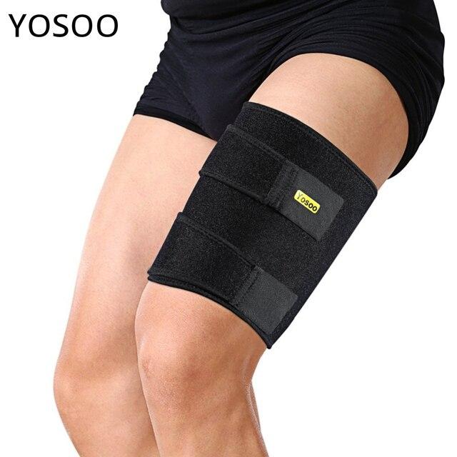 75578243cb Yosoo Knee Brace Support Bandage Sport Thigh Wrap Sleeve Leg Compression  Hamstring Groin Injury Recovery Leg
