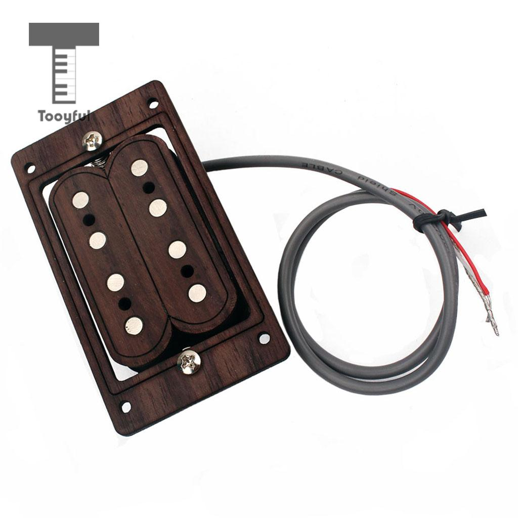 Tooyful Guitar Repalcement Parts Copper Humbucker Pickup for Cigar Box Guitar 4 String Guitar soundhole prewired active pickup 6 string for cigar box guitar parts accessories