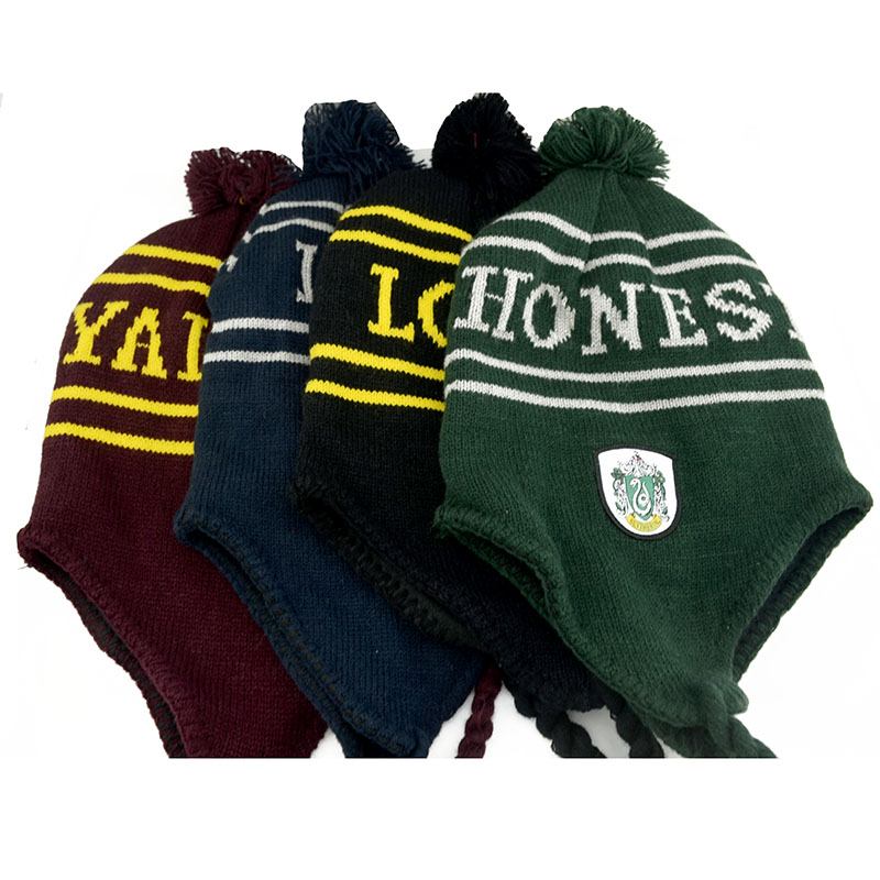 Harri Potter Earmuffs cap Gryffindor Cap/Hat Earmuffs cap Soft Warm Hat Cosplay Costumes Halloween Gift Children's Day gift