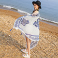 Shocking Show Hot Spring Summer Ladies Ethnic Style Scarf Beach Head Sarong Wrap Tassel Shawl
