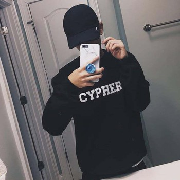 Sugarbaby Cypher Crewneck Sweatshirt Long Sleeve Fashion Tumblr Casual Tops Crew Neck K-pop Jumper High quality Sweatshirt crew neck crop sweatshirt