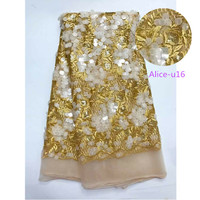 Factory Direct Offer 100 High Quality African Tulle Lace Net Lace Fabric With Sequins Wholesale And