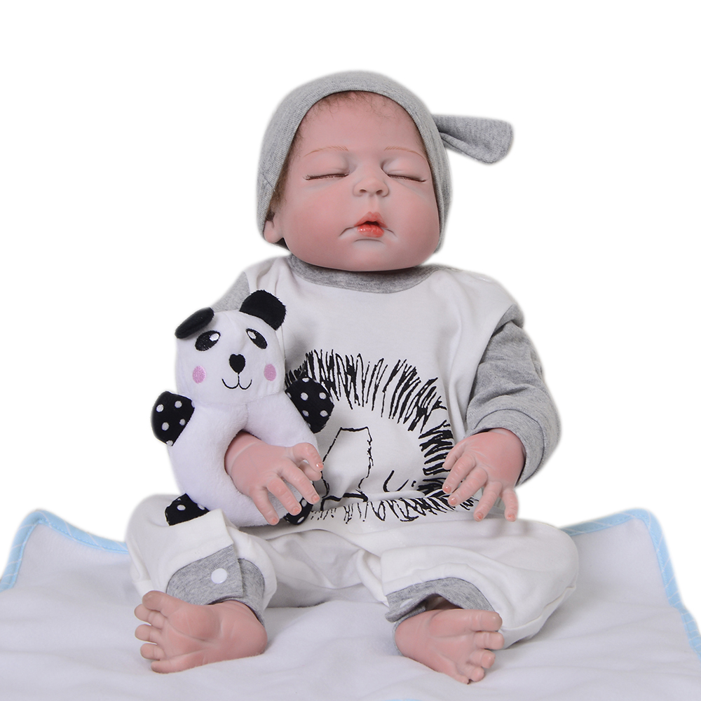57cm reborn Newborn full silicone bathe Gift for Child lifelike real touch adorable infant sleeping play house handmade toddlers57cm reborn Newborn full silicone bathe Gift for Child lifelike real touch adorable infant sleeping play house handmade toddlers