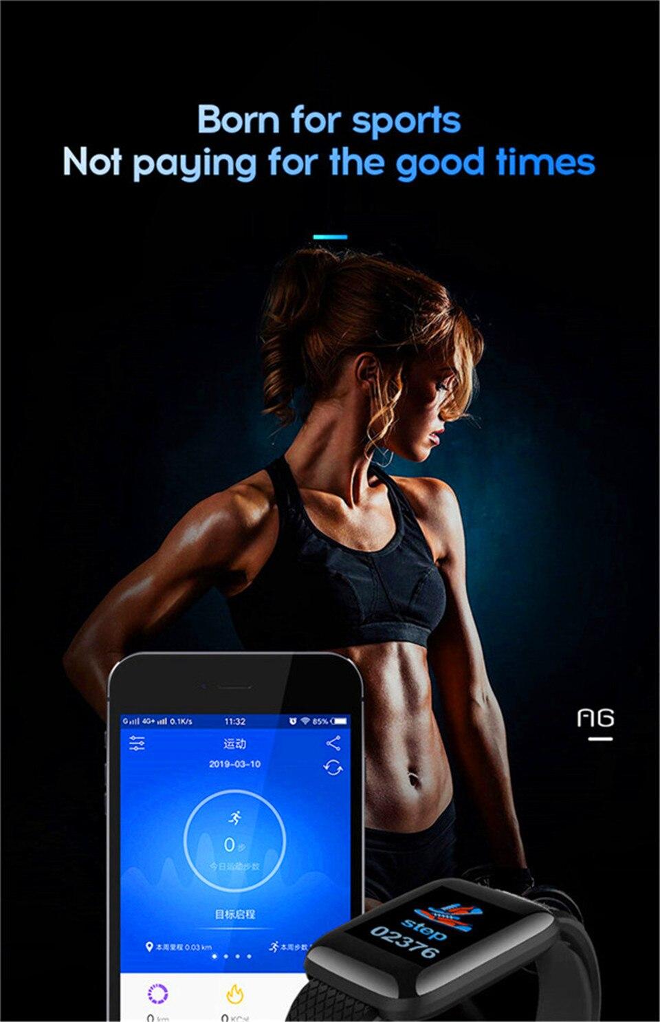HTB1GWruO6TpK1RjSZKPq6y3UpXaM Smart Wristband Heart Rate Monitor Smart Fitness Bracelet Blood Pressure Waterproof IP67 Fitness Tracker Watch For Women Men