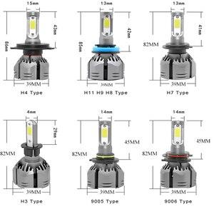 Image 5 - YAMYFF Car Headlight H4 LED H7 LED H11 LED Bulbs 3000K 6000K 8000K 9000LM H1 H3 9005 9006 H27 4300K Bulb Auto Fog Light Lamp 12V