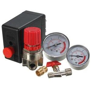 Image 5 - 공기 압축기 압력 밸브 스위치 매니 폴드 릴리프 레귤레이터 게이지 7.25 125 PSI 240V 15A 인기