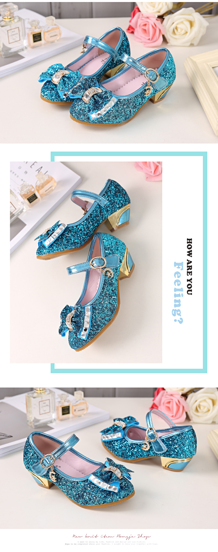 princesa sapatos de salto alto 26-37