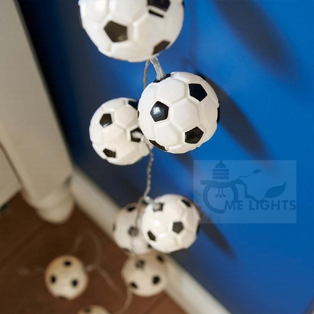 10 STÜCKE Batterie Fußball Led Innen Lichterkette LED Schlafzimmer Fee  Lichterketten Weihnachtsbeleuchtung Für Urlaub